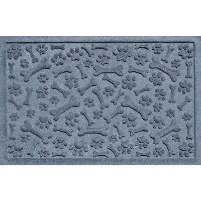 Bluestone 24 in. x 36 in. Paws and Bones Polypropylene Pet Mat