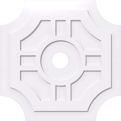 36 in. OD x 5 in. ID x 1 in. P Haus Architectural Grade PVC Contemporary Ceiling Medallion