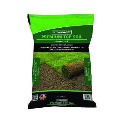 0.75 cu. ft. Screened at 3/8 in. Premium Quality Topsoil (Loam)