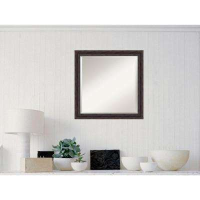 Rustic Pine Wood 23 in. x 23 in. Distressed Framed Mirror