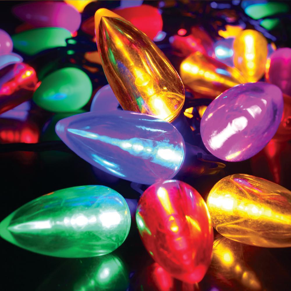 100-Light C9 Transparent Multicolor LED String Light Set