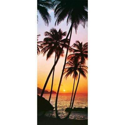 79 in. x 34 in. Sunny Palms Wall Mural