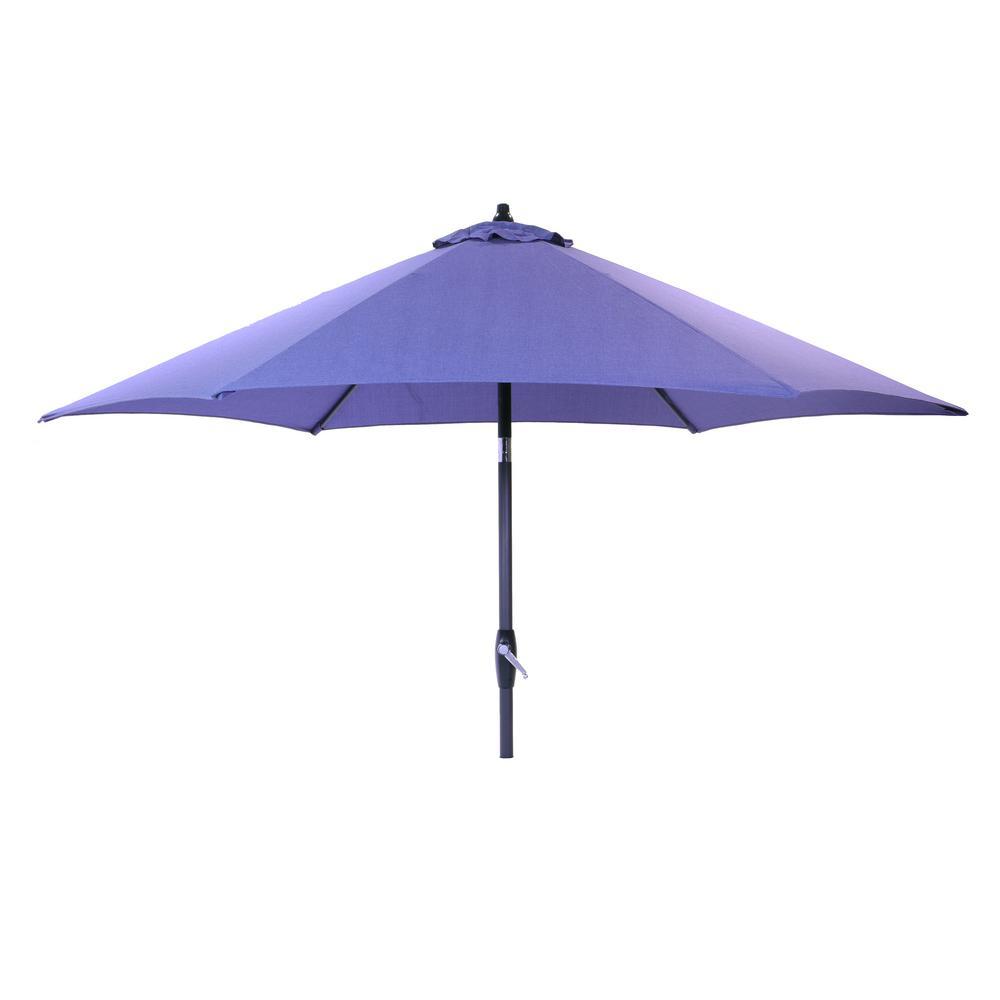 9 ft. Aluminum Market Tilt Patio Umbrella in Spectrum Denim