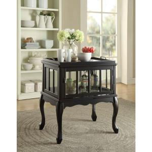 fidelia console table with tray in black