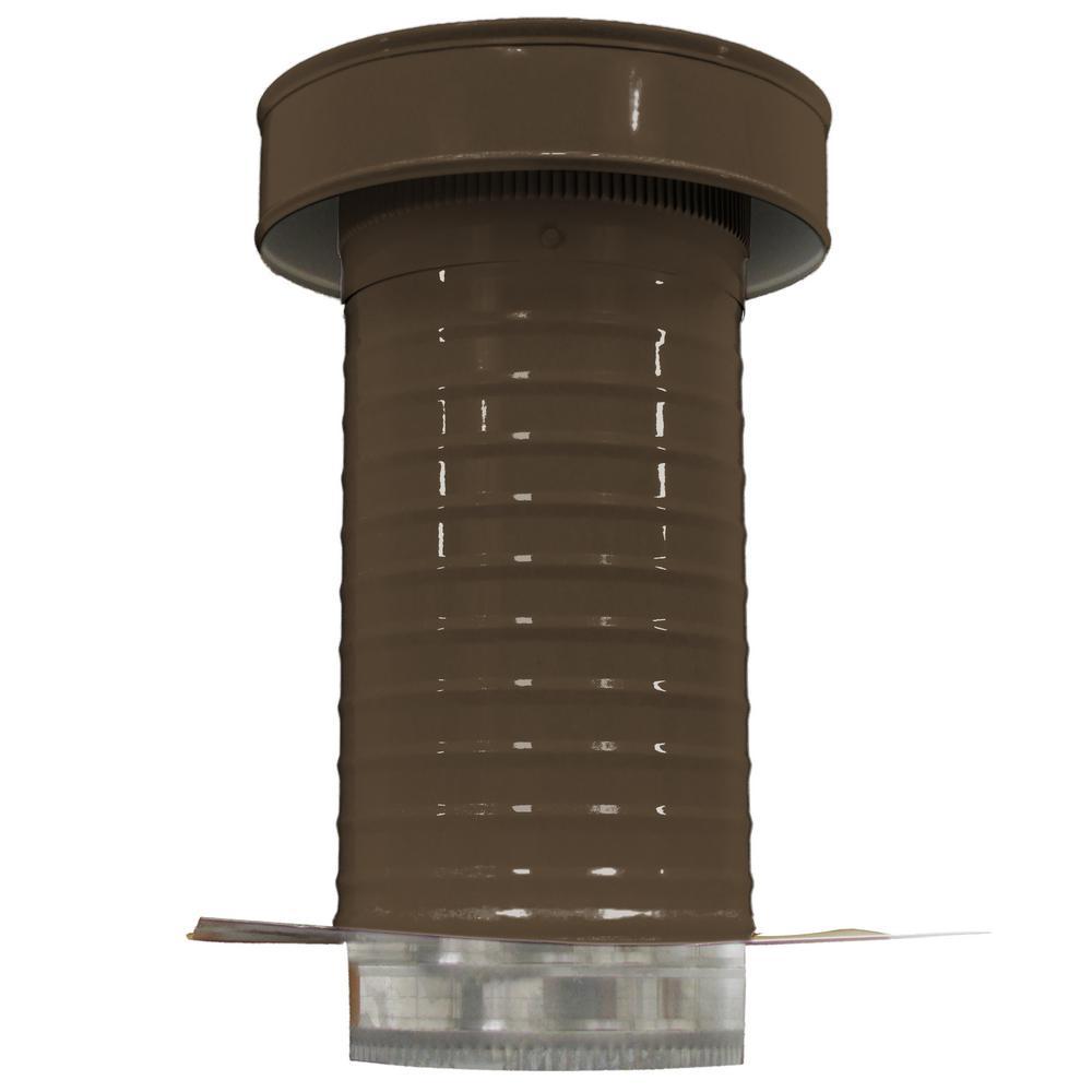 7 in. Dia. Aluminum Keepa Roof Jack in Brown