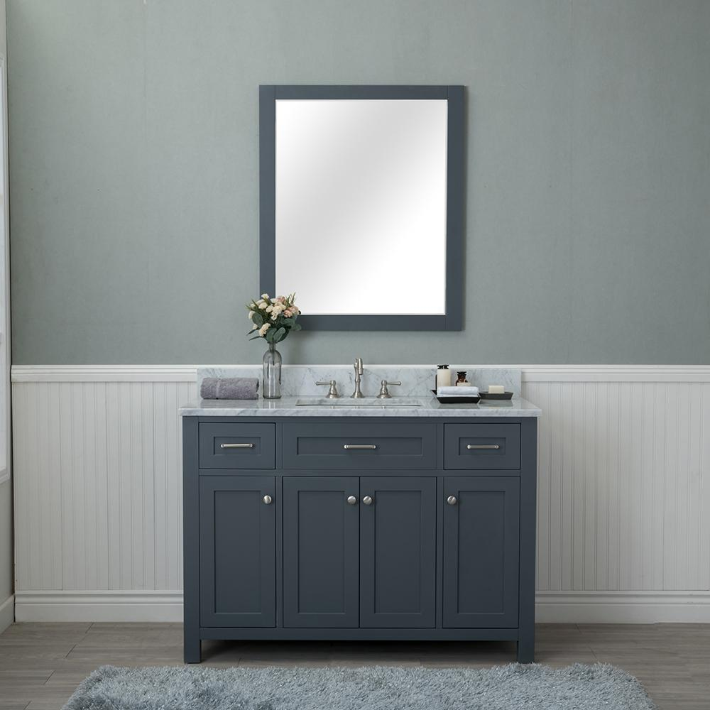 Norwalk 48 in. W x 22 in. D Vanity in Gray