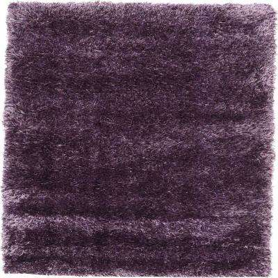 Luxe Solo Fig Purple 3 ft. x 5 ft. Area Rug