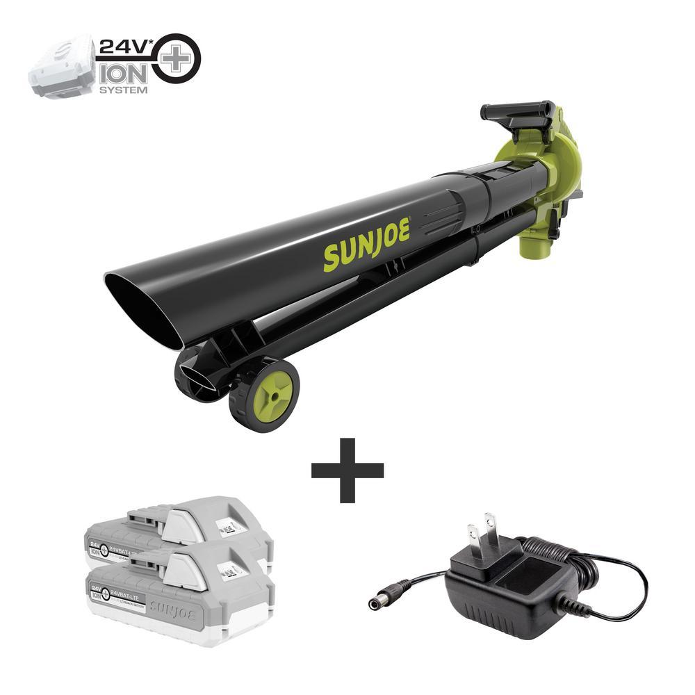 48-Volt 155 MPH 388 CFM Electric Cordless Blower/Vacuum/Mulcher Kit with 2 x 2.0 Ah Batteries + Charger