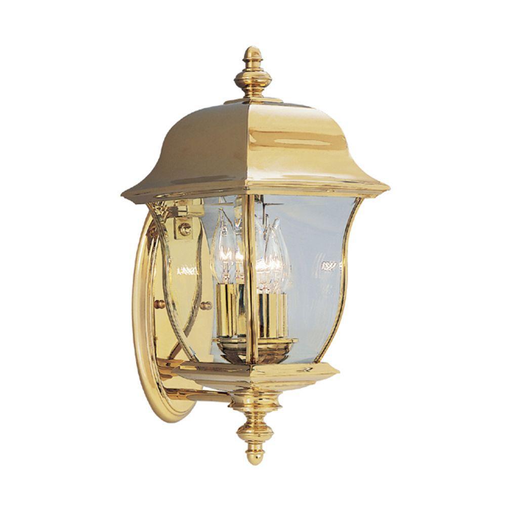 Brass Outdoor Light Fixtures Brass gold outdoor wall mounted lighting outdoor lighting oak harbor 3 light polished brass outdoor wall mount lantern workwithnaturefo