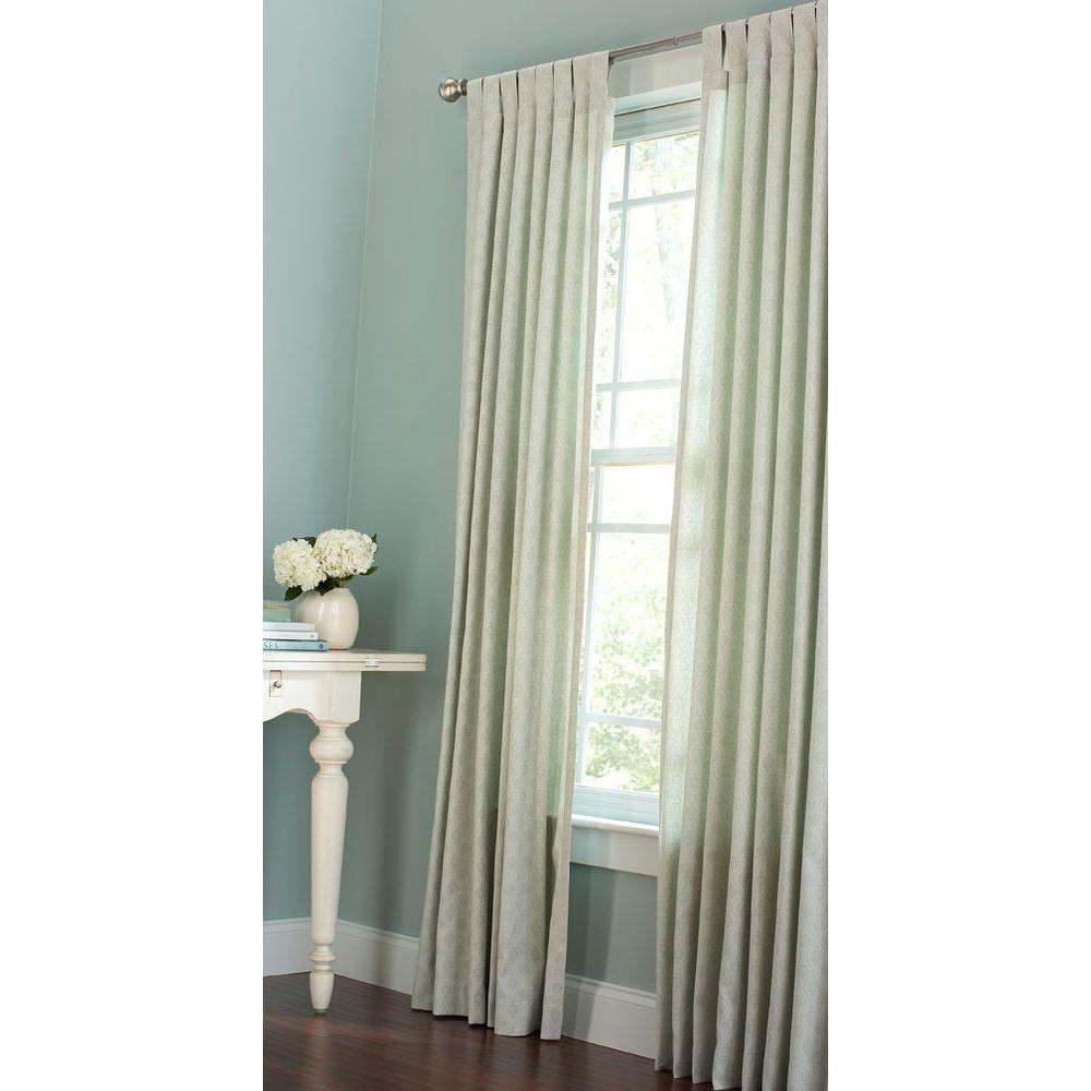 Martha Stewart Living Sheer Spring Melt Ogee Dot Tab Top Curtain (Price  Varies By Size