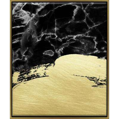 "16 in. x 20 in. ""Marble Brushstrokes"" Framed Wall Art"
