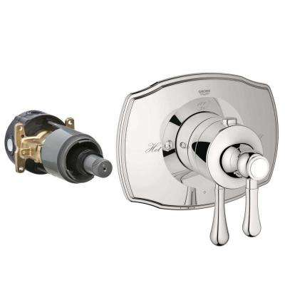 Authentic 2-Handle GrohFlex Universal Rough-In Box Single Function Thermostatic Kit in Polished Nickel