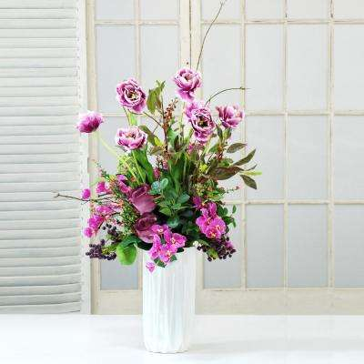 Rose and Tulip Deluxe 34 in. Tall Centerpiece in Pink Flowers