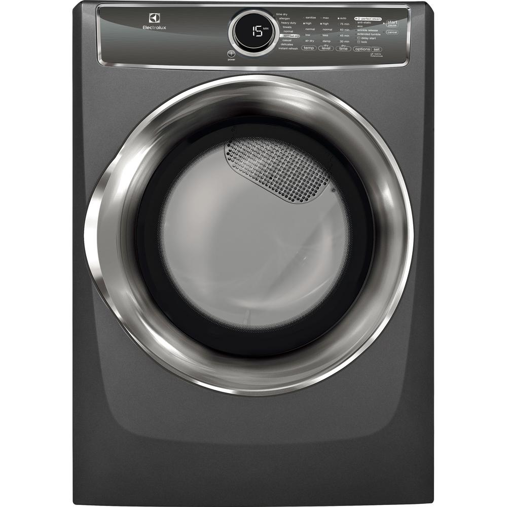 electrolux 24 washer. electrolux 8.0 cu. ft. electric dryer with steam in titanium, energy star 24 washer