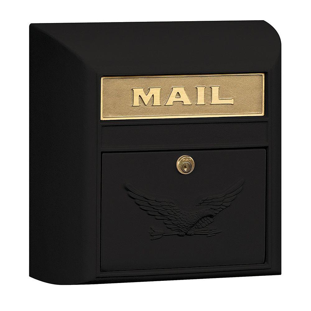 4100 Series 14.5 in. W x 14.5 in. H x 6 in. D Black Eagle Door Modern Mailbox