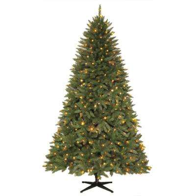 7.5 ft. Pre-Lit LED Matthew Fir Artificial Christmas Tree with 450 Color Changing Lights
