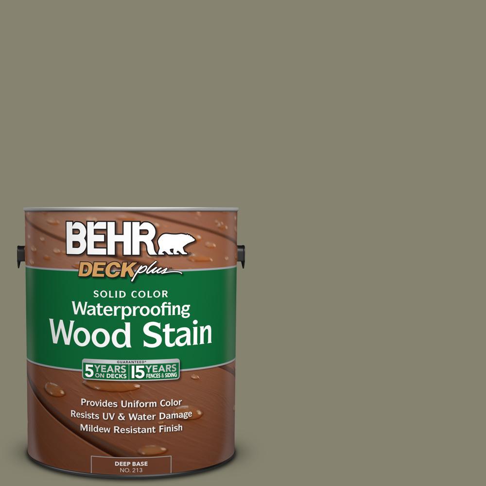 1 gal. #SC-144 Gray Seas Solid Color Waterproofing Exterior Wood Stain