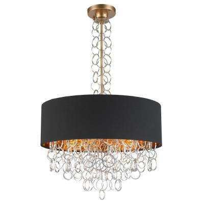 Catena 6 Light Matte Gold Pendant