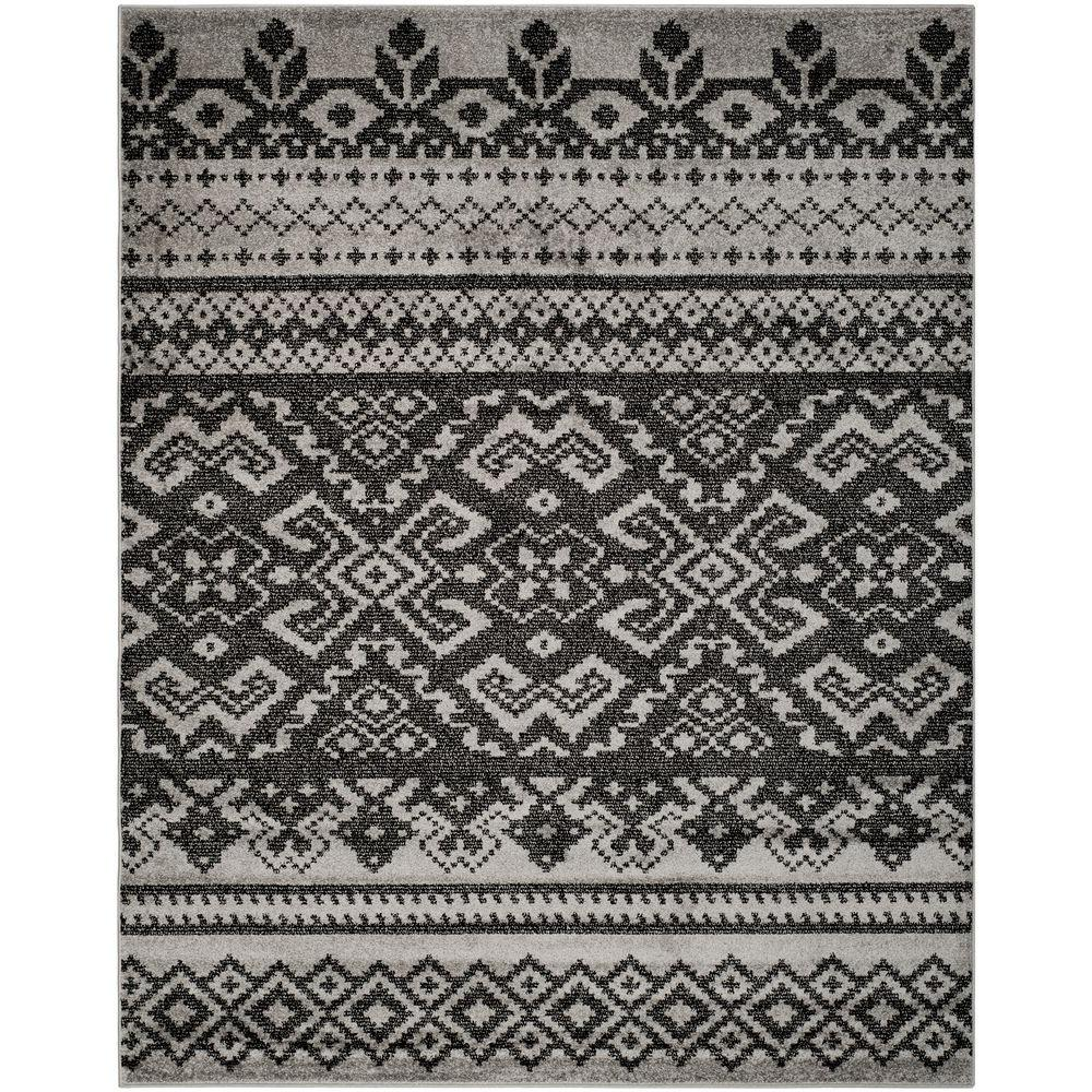 Adirondack Silver/Black 10 ft. x 14 ft. Area Rug