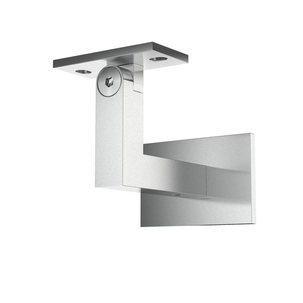 2.5 in. Stainless Steel Square Slim Handrail Wall Bracket Adjustable