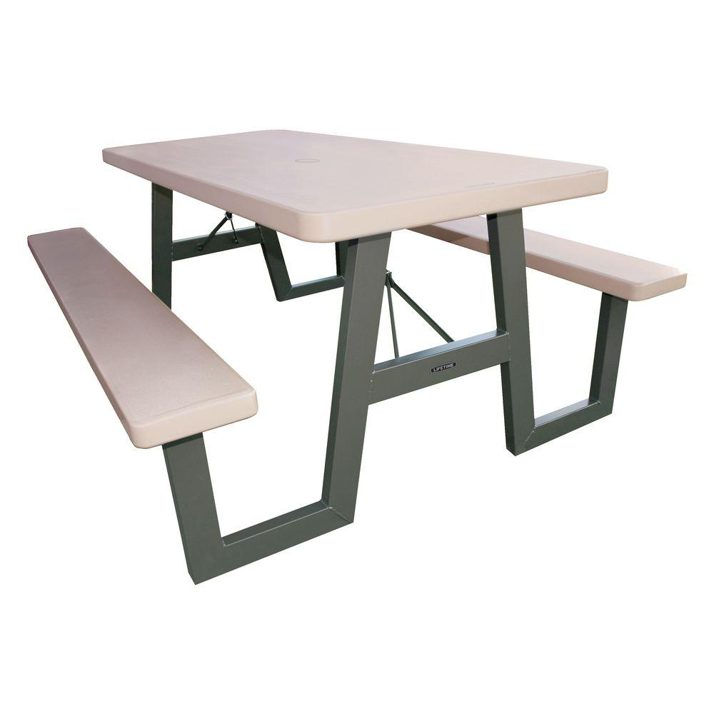 Lifetime 57 In X 72 W Frame Folding Picnic Table