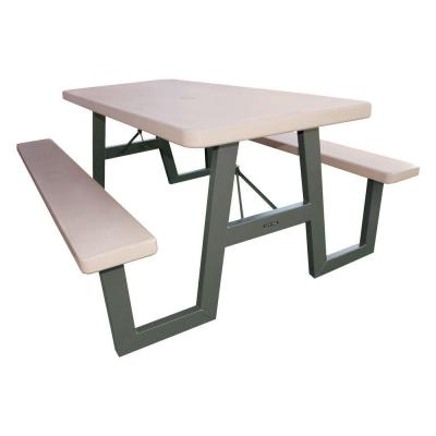 Lifetime 6 Ft Putty Folding Picnic Table 22119 The Home Depot