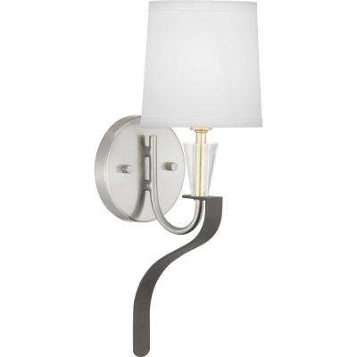 Nealy Collection 1-Light Brushed Nickel Wall Bracket