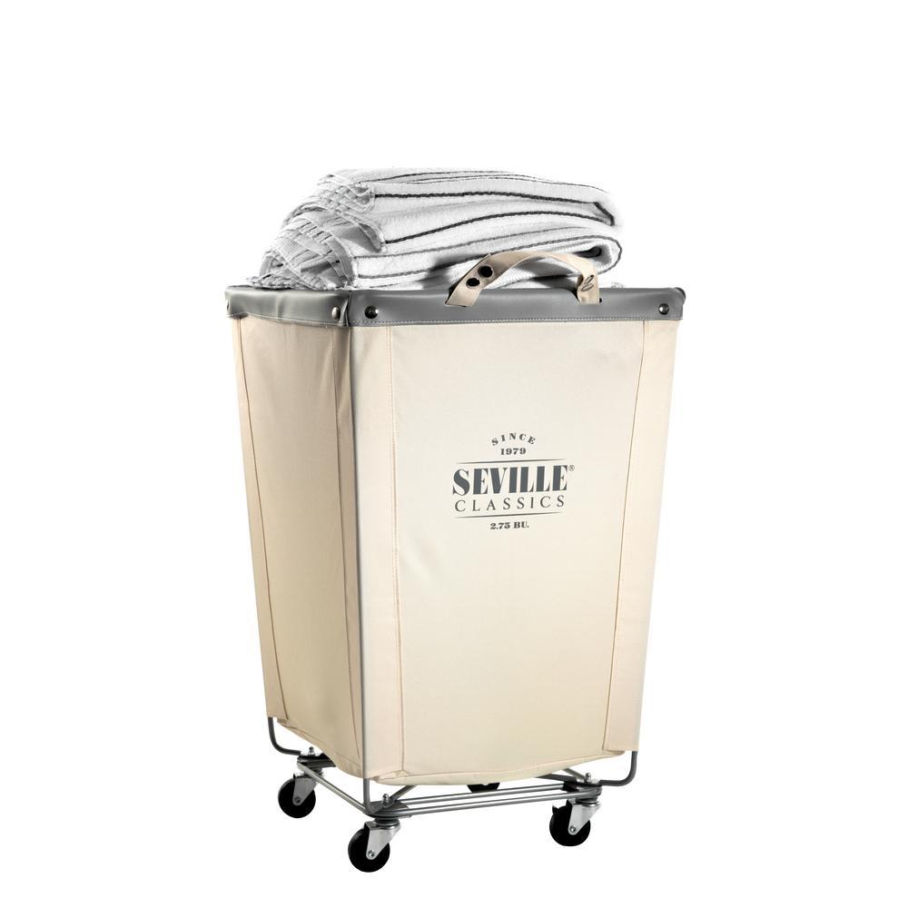 Commercial Canvas Laundry Hamper Cart