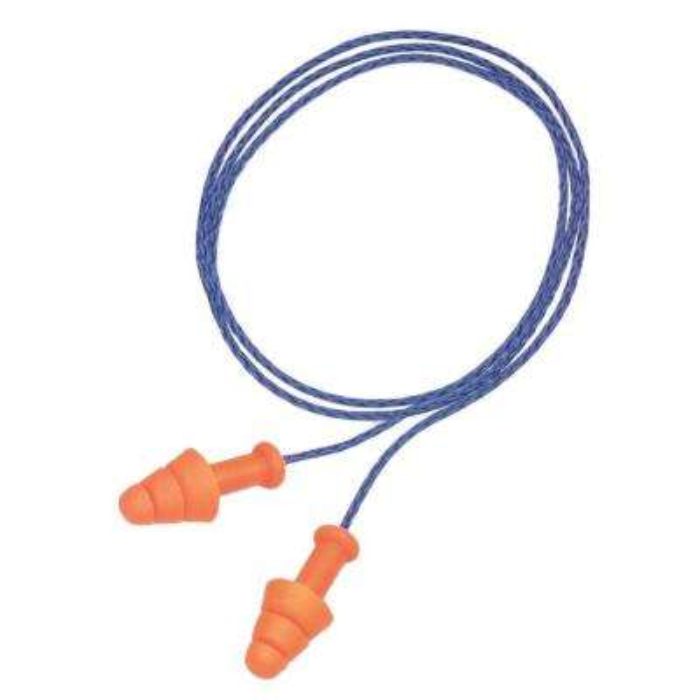 SmartFit Triple-Flange Multiple Use Earplugs Corded Hear Pack (1000-Box)