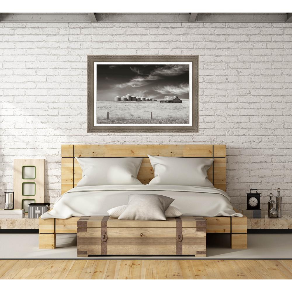 """unbranded 32.5 in. x 44.5 in. """"Ranchlands"""" Farm Landscape by Steve Silverman Textured Paper Print Framed Wall Art"""