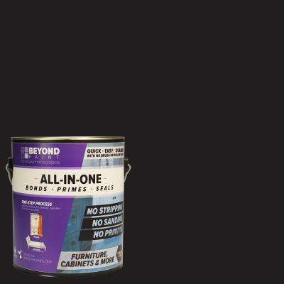 1 gal. Licorice Furniture, Cabinets and More Multi-Surface All-in-One Refinishing Paint