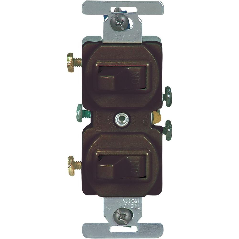 brown-eaton-outlets-receptacles-271b-box-64_1000  Circuit Switch Plug Combo Wiring on