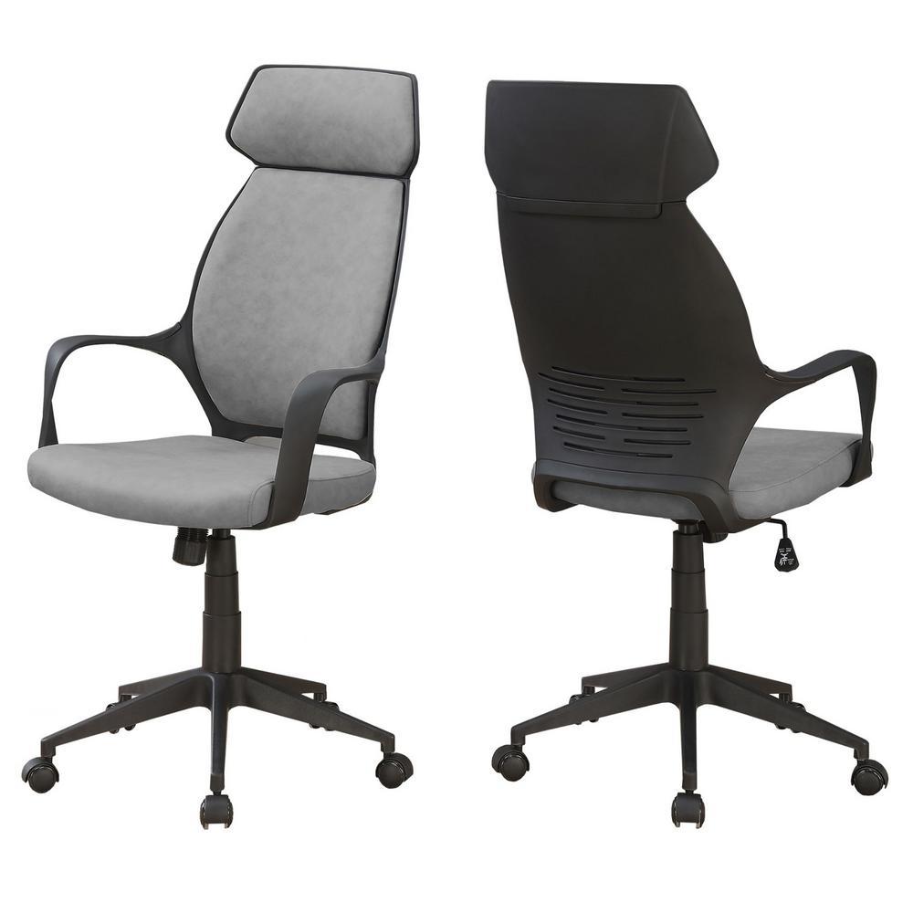 Jasmine 1-Piece Grey and Black Office Chair