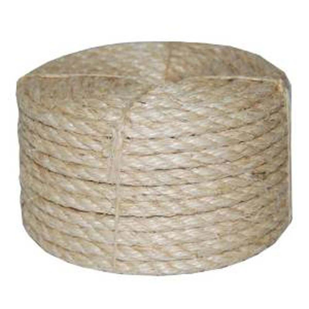 Evans International 1/2 in. x 665 ft. Twisted Sisal Rope,...