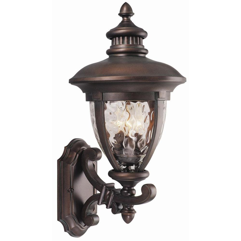 Design House Tolland 3-Light Patina Bronze Outdoor Wall-Mount Uplight