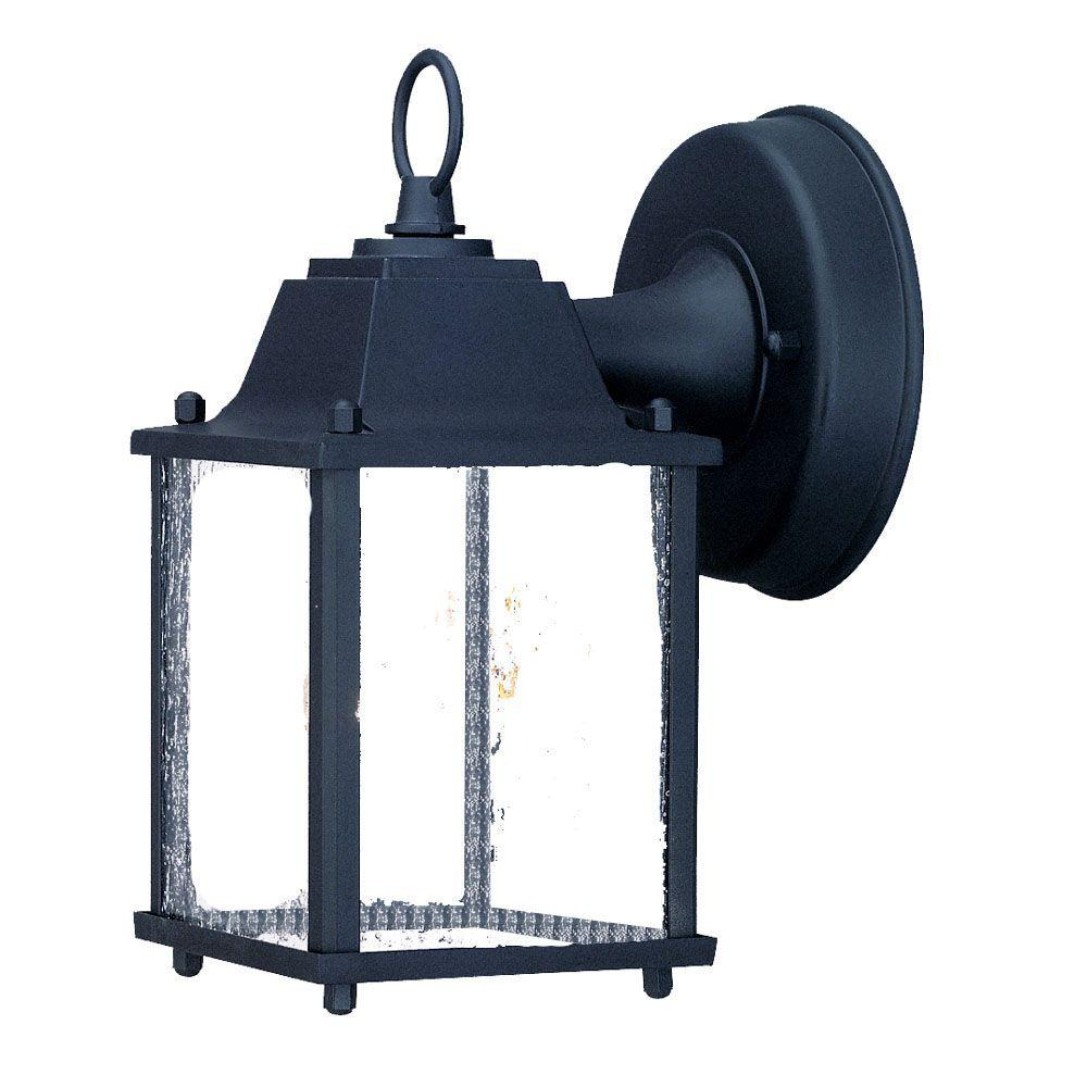 Acclaim lighting builders choice collection 1 light matte black outdoor wall mount light fixture