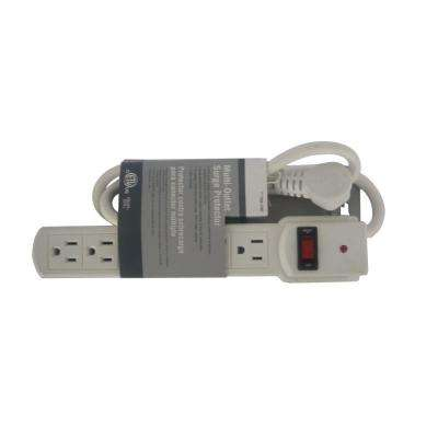6-Outlet Surge with 3 ft. Cord 45 Degree Angle Plug