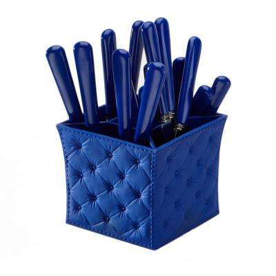 Provence 20-piece Blue Flatware Set with Caddy