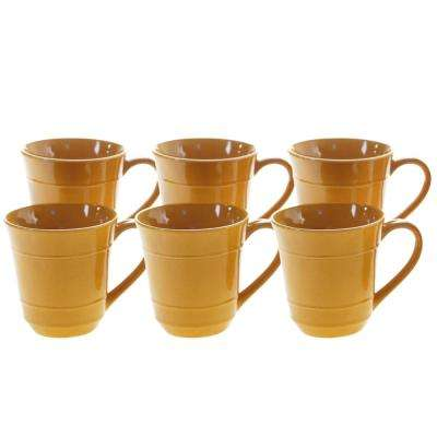Autumn Fields by Susan Winget Orbit Harvest Gold 14 oz. Mug (Set of 6)