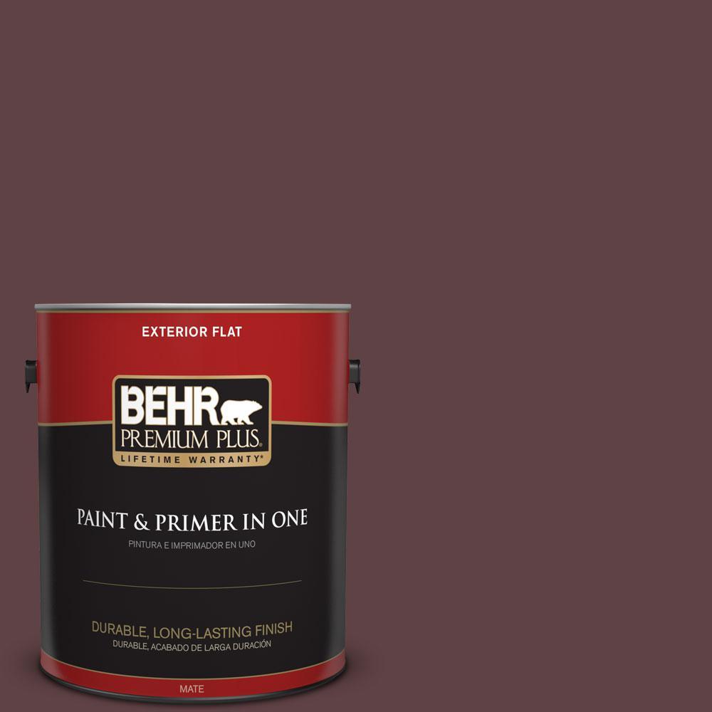 BEHR Premium Plus 1-gal. #S-G-700 Wild Raisin Flat Exterior Paint