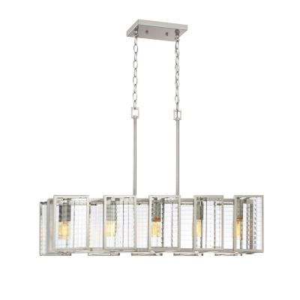 Pivot 5-Light Satin Platinum Interior Island Light