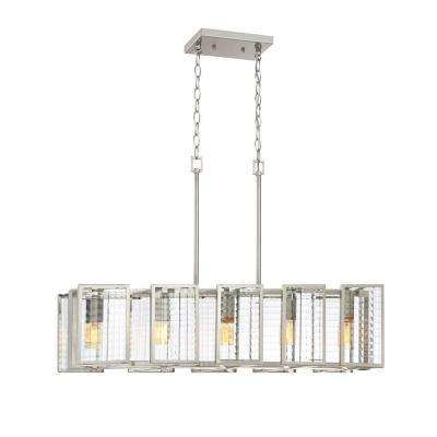 Pivot 5-Light Satin Platinum Interior Island Light