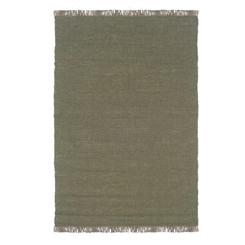 Linon Verginia Berber Olive (Green) 5 ft. x 8 ft. Indoor ...