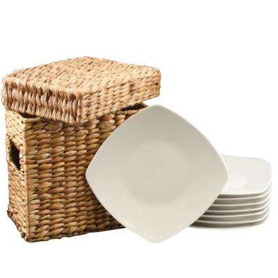Zen Buffetware White Square Dessert Plates (Set of 8)