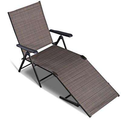 Pleasant Steel Pool Chair Recliner Patio Furniture Adjustable Outdoor Chaise Lounge Bralicious Painted Fabric Chair Ideas Braliciousco