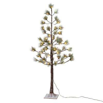 4 ft. Snowy Pine LED Lighted Artificial Tree