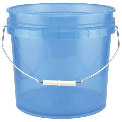 3.5-Gal. Blue Plastic Translucent Pail (Pack of 3)