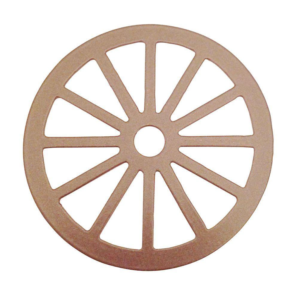 Dia Wagon Wheel Decorative Satin Nickel Roller