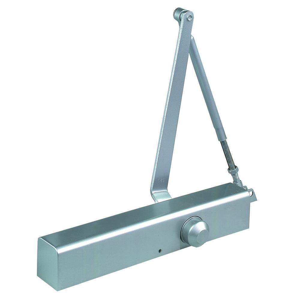 Commercial Slim Line Door Closer in Aluminum - Sizes 2-6