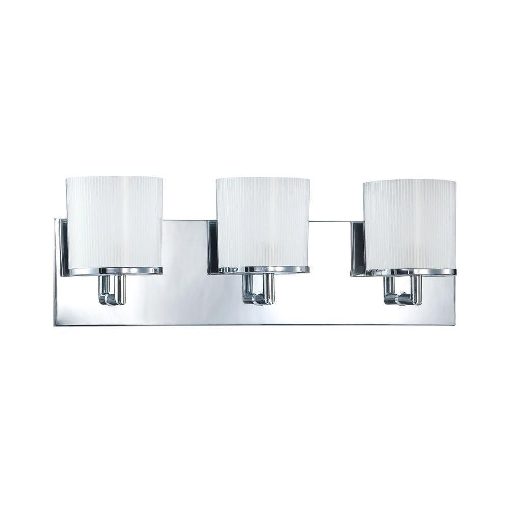 Filament Design Calina 3-Light Chrome Bath Vanity Light